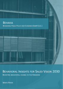 Behavia - Behavioral Insights for Vision 2030